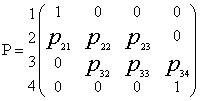 Матрица переходных вероятностей