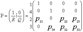 Канонически вид матрицы переходных вероятностей